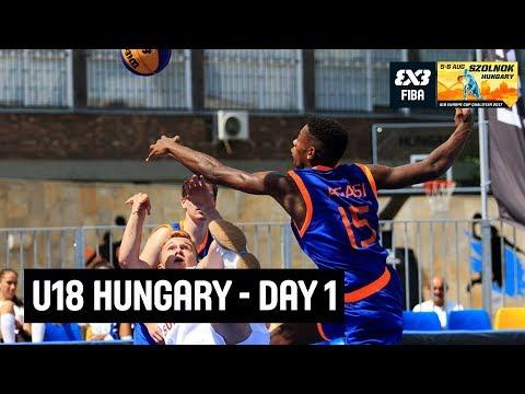 FIBA 3x3 U18 Europe Cup Qualifier 2017 - Day 1 - Szolnok, Hungary | Re-Live