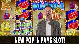 💰 BIG PAYS on *NEW* Circus Themed BIG TOP Slot with @The Slot Cats  🎪 Pop N' Pays and BCSlots #AD