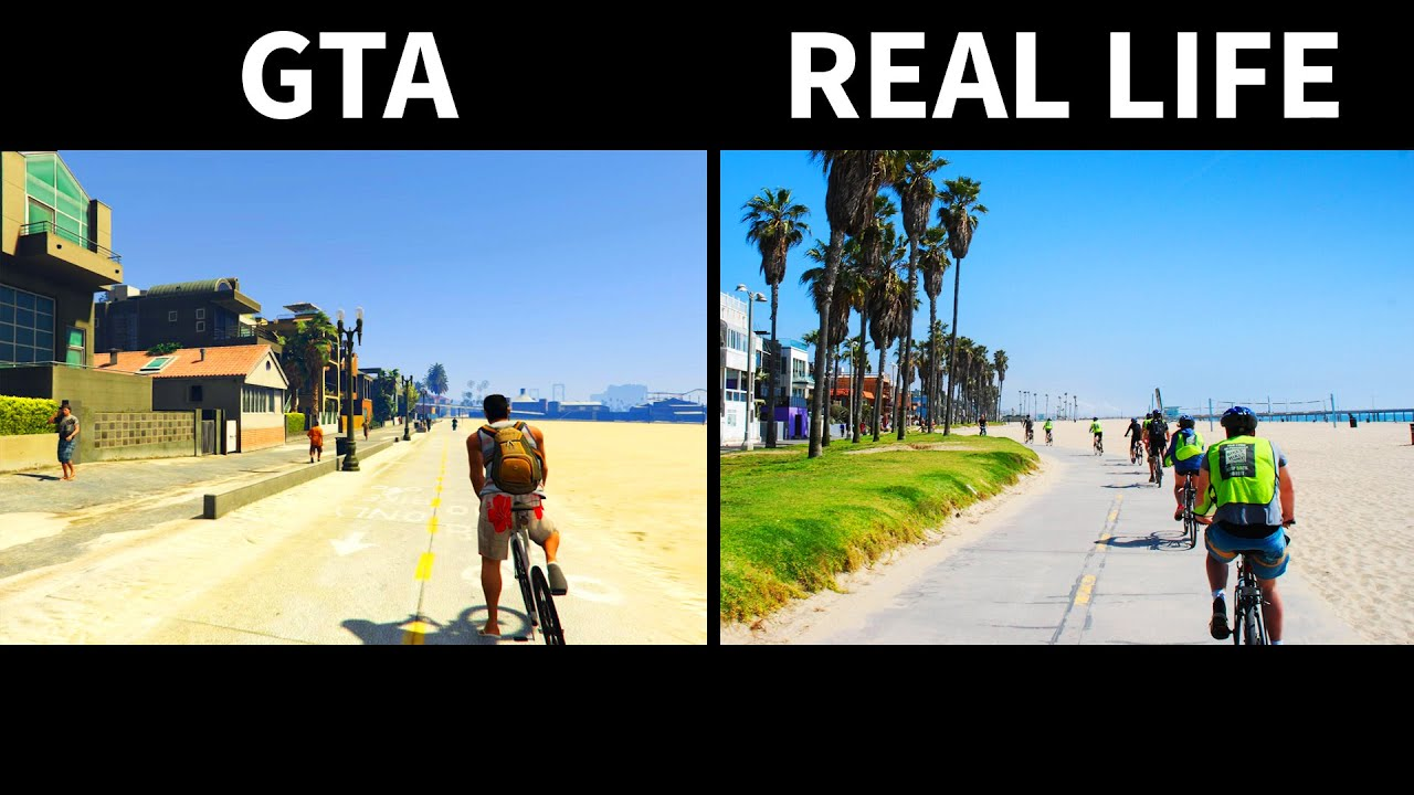 GTA V Vs Real Life Side By Side Part 3 YouTube