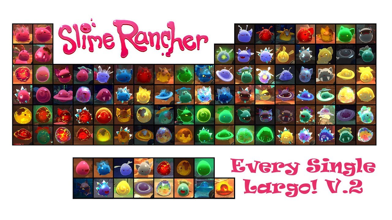EVERY SINGLE SLIME RANCHER LARGO! (Version 2 with Saber Largos)