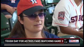 Tough day for Astros fans watching Game 3 against Red Sox