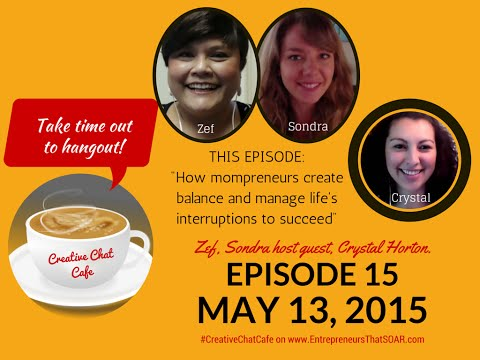 Creative Chat Cafe - How mompreneurs create balance and manage life's interruptions to succeed.