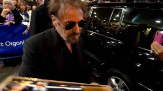 Al Pacino the Godfather signing on Broadway New York