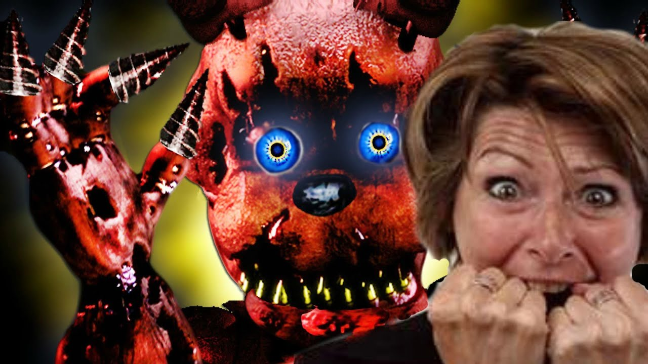 My mom plays five nights at freddy quot s 4 best reaction youtube