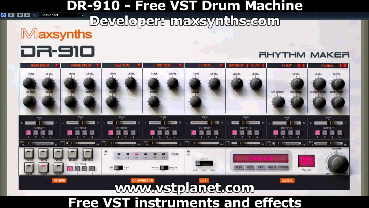free vst dr 910 drum machine youtube. Black Bedroom Furniture Sets. Home Design Ideas
