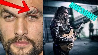 HOW JASON MOMOA GOT HIS SCAR AND HIS TALENT ON THE SET OF AQUAMAN!!