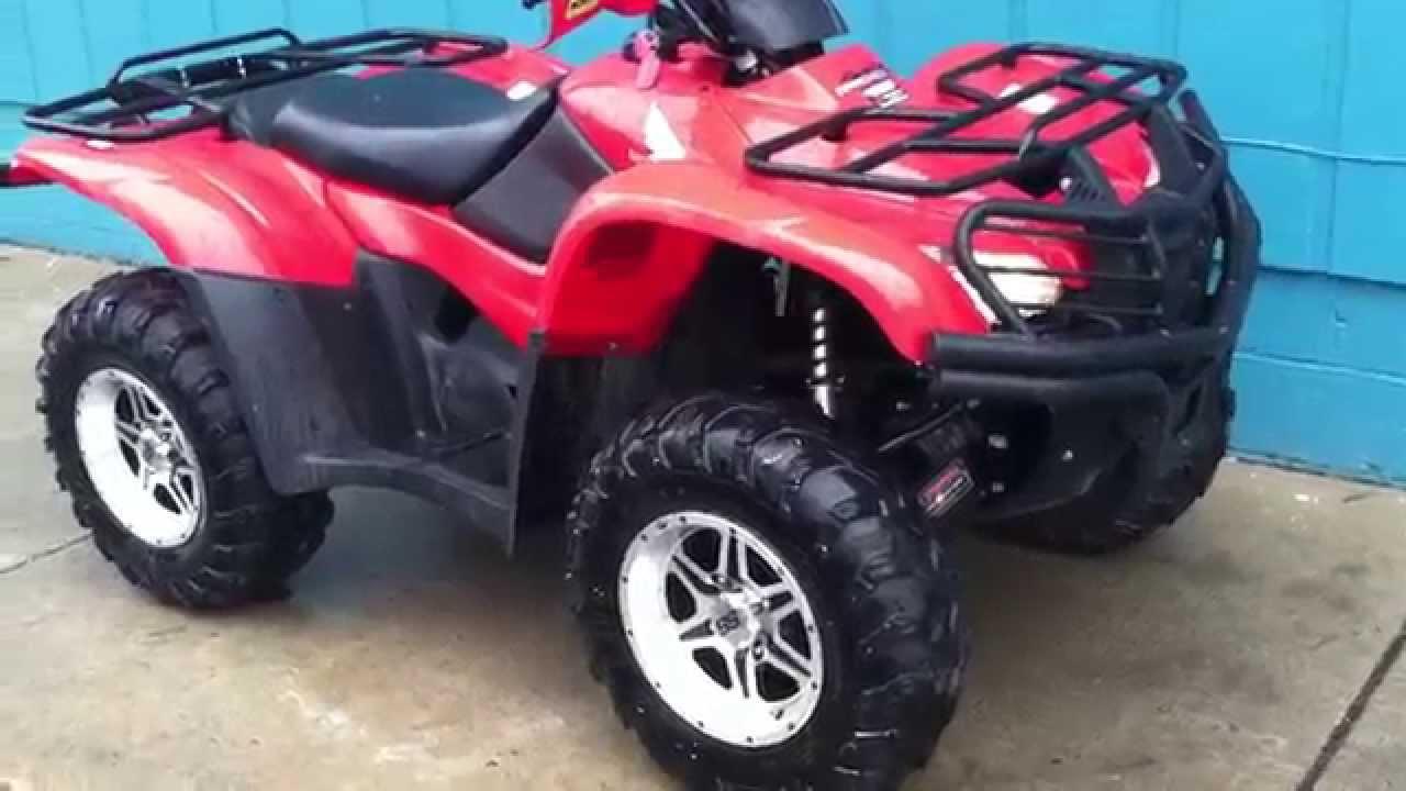 2009 Honda Rancher 420 4x4 automatic  YouTube