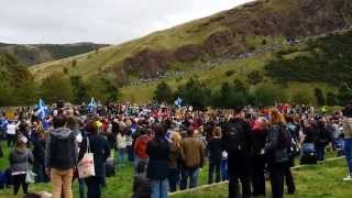 Scottish Pro-Independence Rally at Holyrood