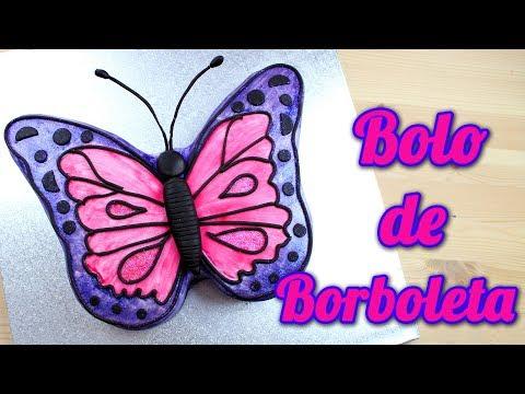 Bolo de Borboleta | Como Fazer Bolo Decorado em Forma de Borboleta | Cakepedia
