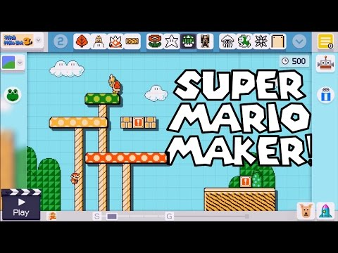 Super Mario Maker: How to create a course!