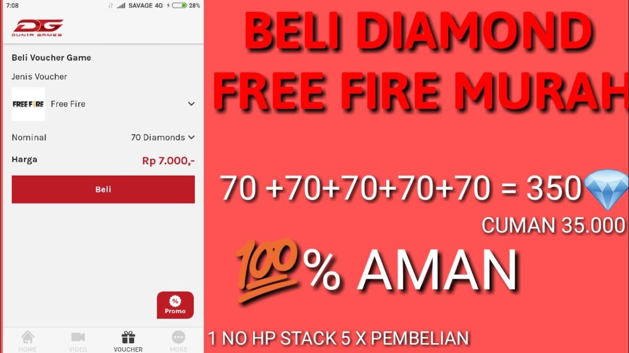 Diskon Beli Diamond Free Fire Murah 70 Dm Hanya 7000 Youtube