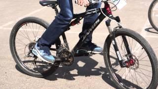Соревнования по медленной езде на велосипедах в Долгопрудном