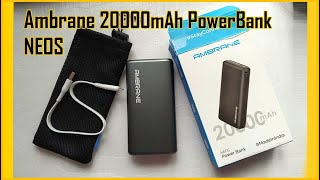 Ambrane 20000mAh Power Bank NEOS Unboxing amp Review