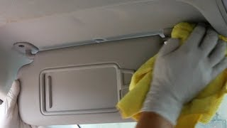 How to easily clean stains from your headliner and sun visor