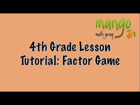 Fourth Grade  Factor Game