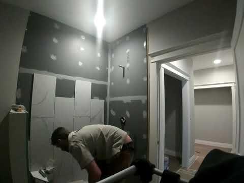 Tile shower install