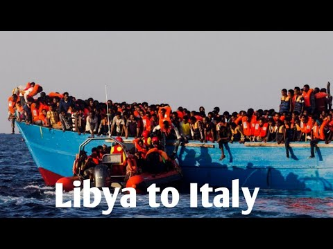 Libya to italy Board and going man 2018