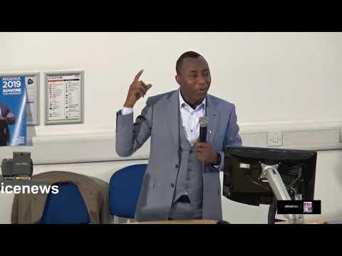 Omoyele Sowore Nigeria 2019 #TakeItBack Movement @UEL London, UK by Africa Alive