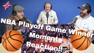 """NBA """"Playoff Game Winner"""" MOMENTS REACTION!!   OFFICE BLOKES REACT!!"""