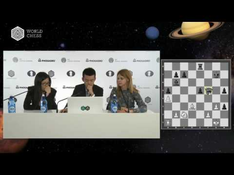 Round 3  Press conference with Ding Liren and Hou Yifan