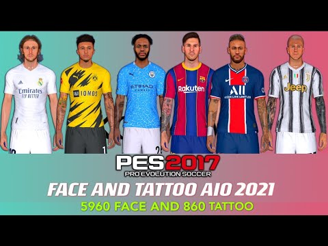 Download PES 2017   STANDALONE FACE AND TATTOO  2021   FACE 5960 AND 860 TATTOO AIO SEASON PATCH 2021   PC