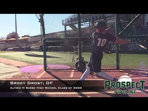 Brody Drost Prospect Video, OF, Alfred M Barbe High School Class of 2020