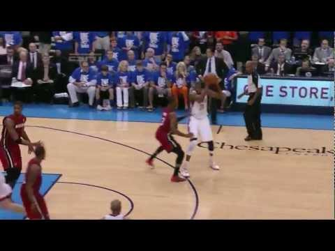 Kevin Durant 36 points (17 in 4th quarter) vs Miami Heat full highlights GM1 NBA FINALS 2012.06.12