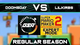 Doomsday vs LilKirbs | Regular Season | GSA SMM2 Expert Mode Speedrun League DA Season 3