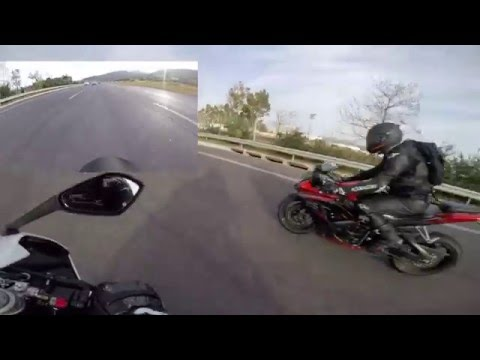 Triumph Daytona  and Suzuki GSX-R  - On our way back after the track day