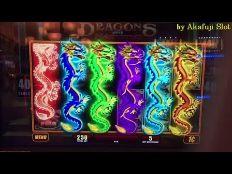 Akafuji Slot SUPER BIG WIN★DRAGONS Over Nanjing Slot Max Bet $2.50 WMS ♬ First Attempt, San Manuel