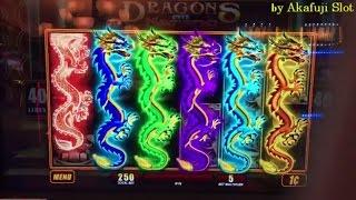 SUPER BIG WIN★DRAGONS Over Nanjing Slot machine Max Bet $2.50 WMS ♬ First Attempt★ San Manuel Casino