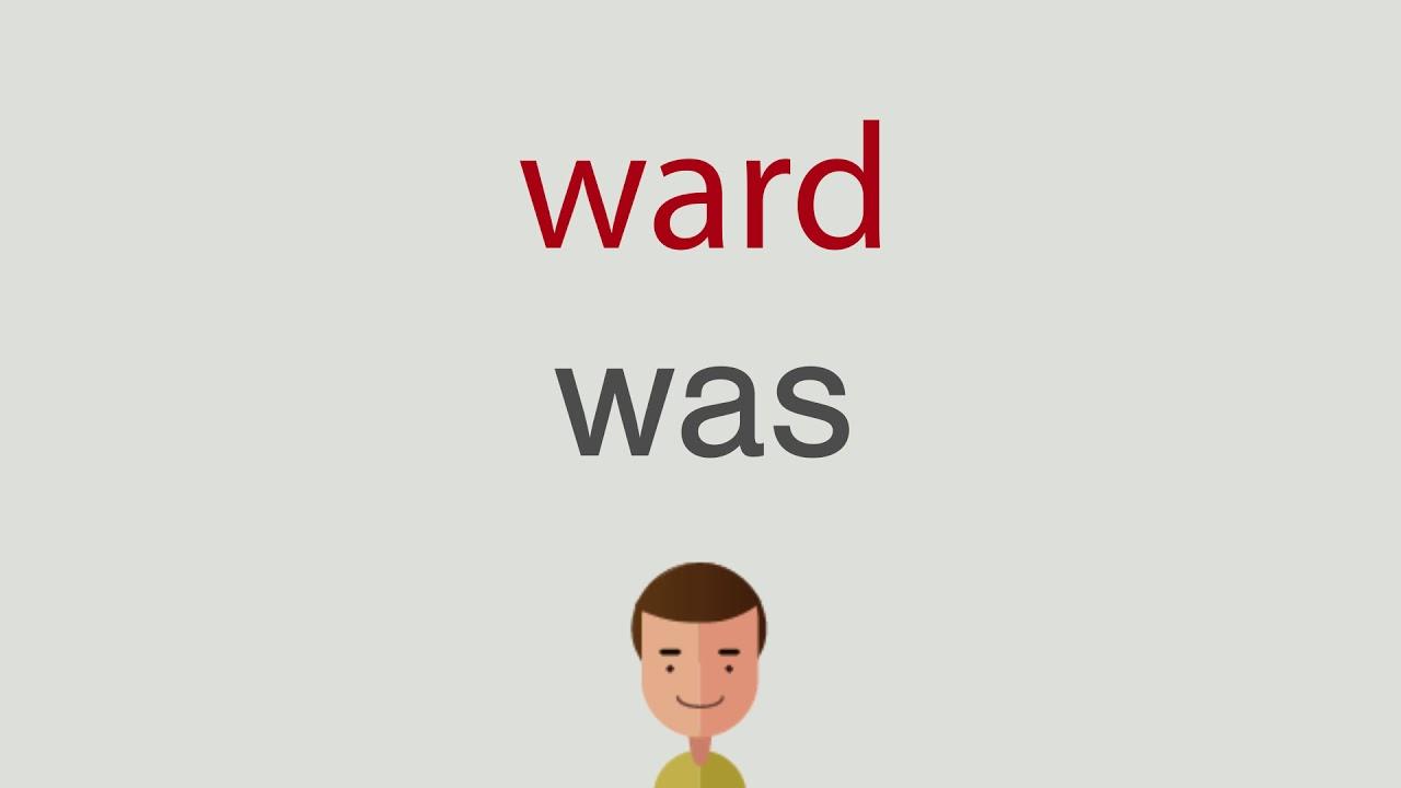 Wie heißt ward auf englisch - YouTube