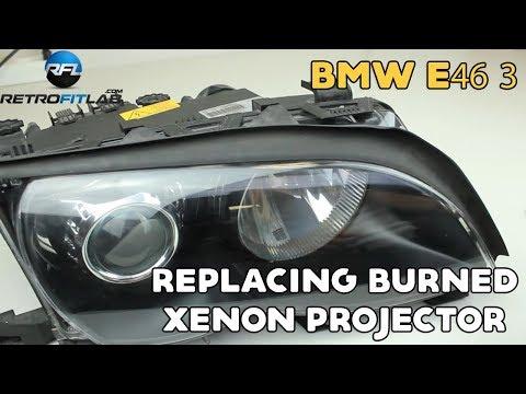 bmw e46 3 replacing burned xenon projector in bosch al. Black Bedroom Furniture Sets. Home Design Ideas