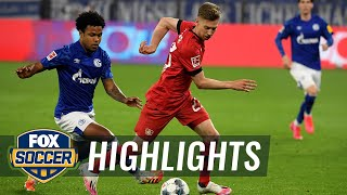 Leverkusen draws with Schalke, sits 4th in Champions League race | 2020 Bundesliga Highlights