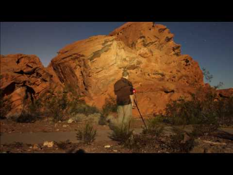 Light Painting at Lake Mead! Night Photography at Lake Mead's Redstone Video