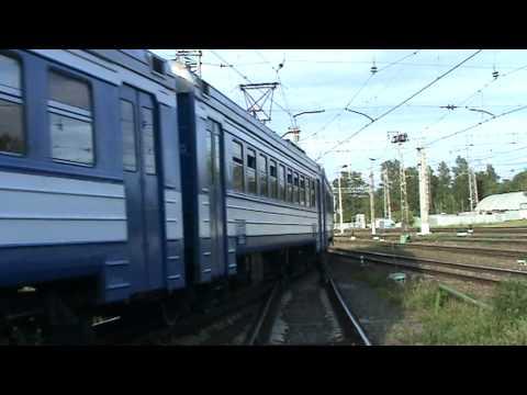 Электропоезд ЭД4МК-0075 станция Голицыно