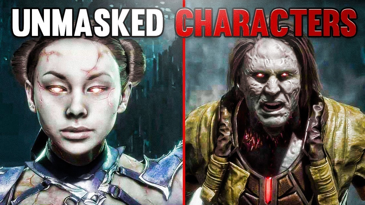 Mortal Kombat 11 Every Character Unmasked AND FACE Uncovered GRAPHICS LOOKS  AMAZING!!!