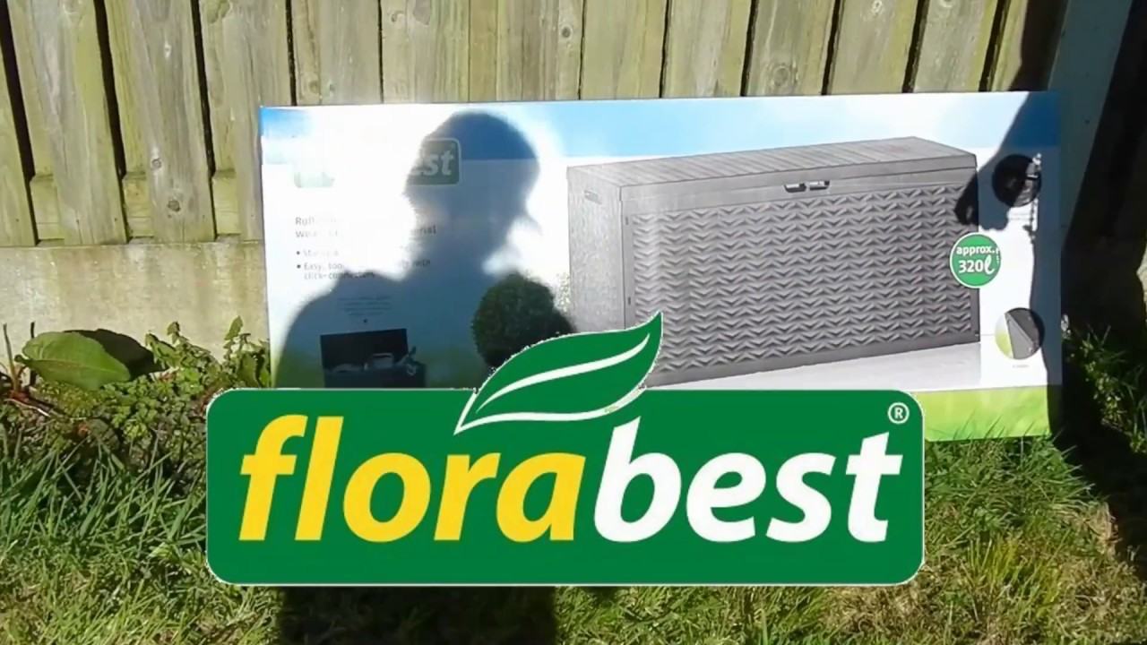 storage box from lidl florabest youtube. Black Bedroom Furniture Sets. Home Design Ideas