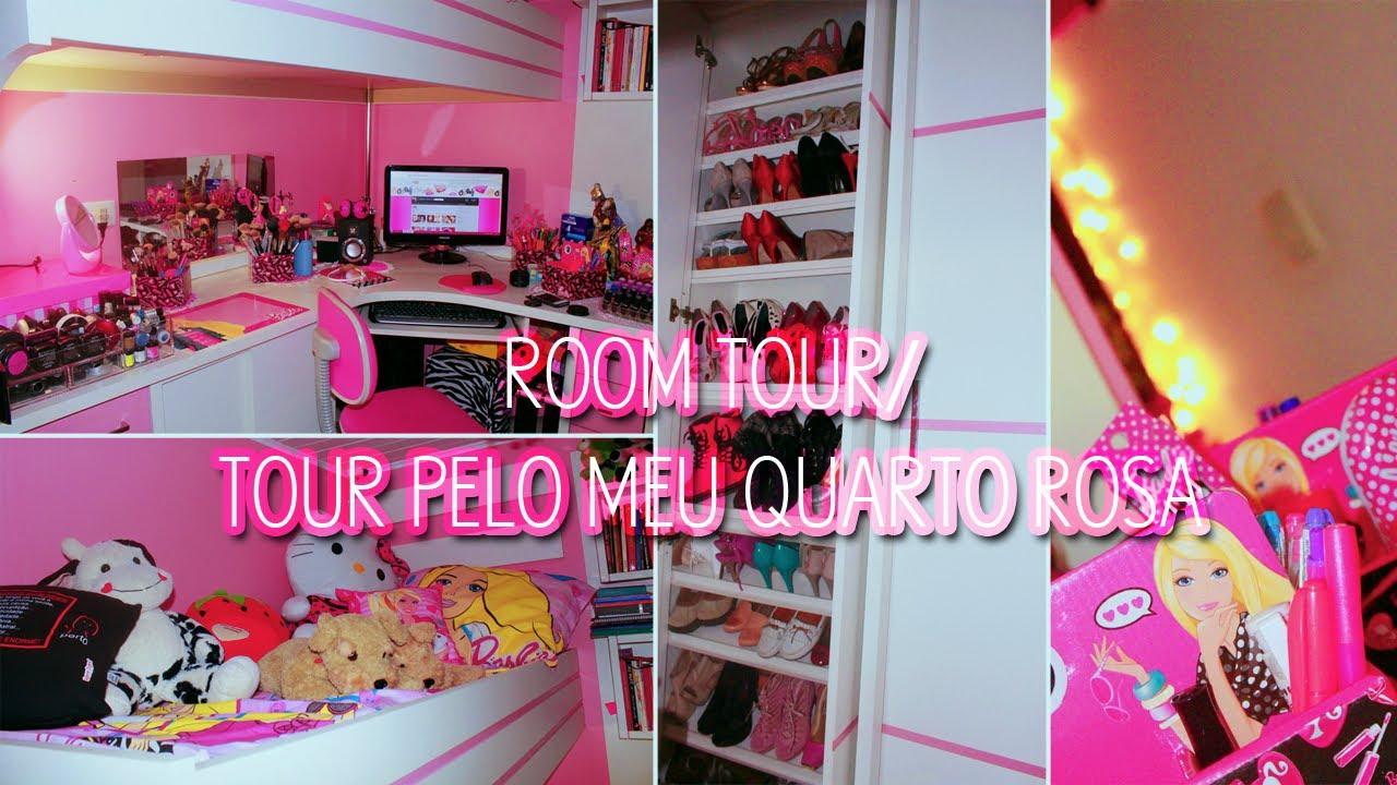Tour pelo meu quarto rosa Room Tour by @Sehziinha YouTube