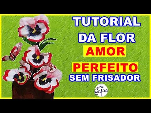 DIY - Como fazer a Flor Amor Perfeito de eva SEM FRISADOR