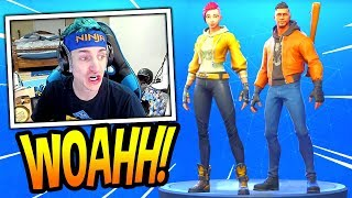 NINJA REACTS A *NUEVO* SOMBRA & MAVERICK SKINS! *EPIC* Fortnite FUNNY & SAVAGE Moments