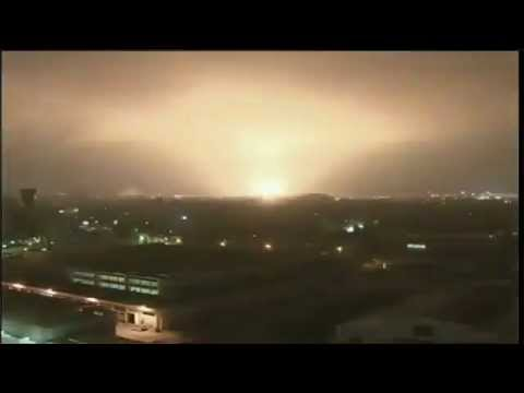 Heaviest NATO Bombing Of Tripoli Libya  24.05.11, NATO Crimes In Libya