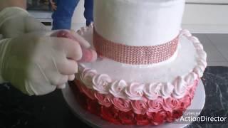 """Оформляем детский тортик """" Minni Maus """" Torte"""