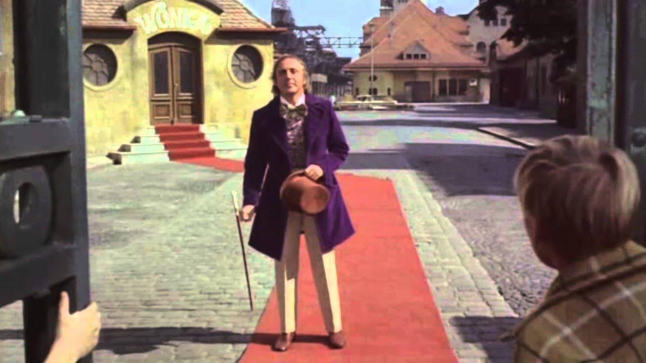 Resultado de imagem para Willy Wonka entrance