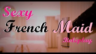 Room Serviced by a Sexy French Maid ASMR Roleplay -- (Female x Female) (Fanservice) (Lewd)