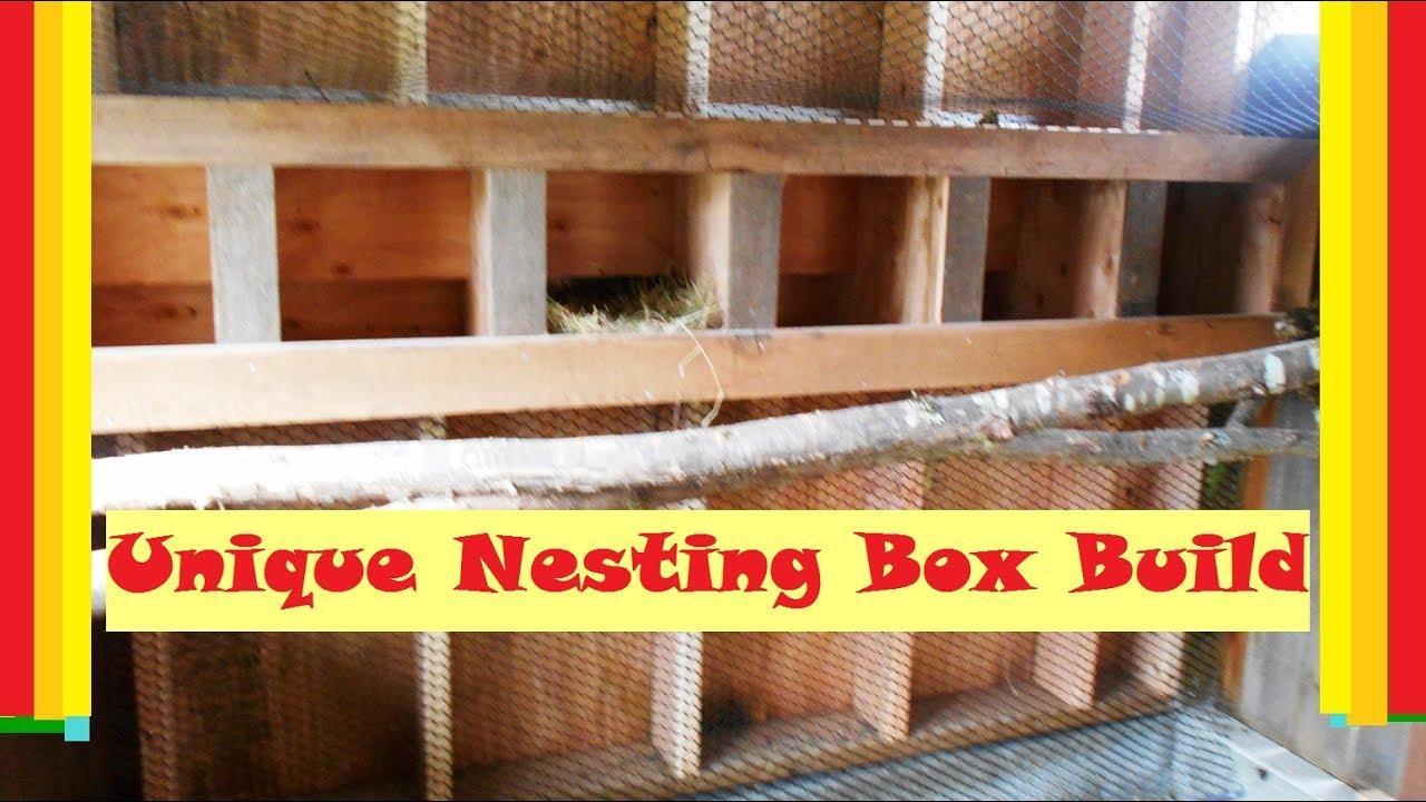 Easy Access Chicken Nesting Box Build Youtube