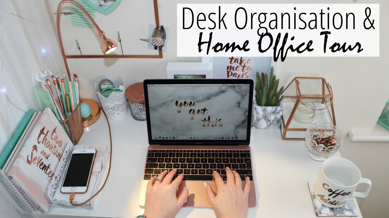 home office tour u0026 desk organisation for small spaces n