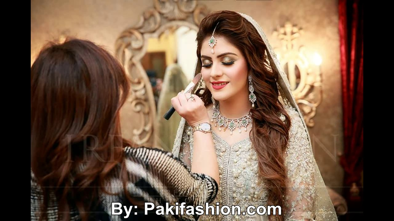 latest pakistani bridal hairstyles for wedding day 2016 - youtube