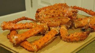 Ω (HD) ASMR - Eating Alaskan King / Spider Crab