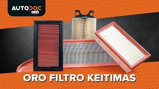Kaip pakeisti Variklio oro filtras - vaizdo vadovas